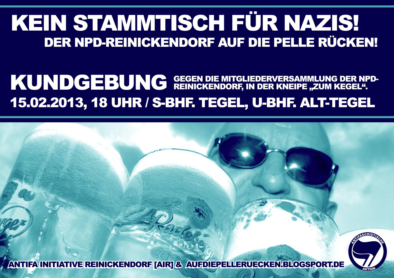 Kein Stammtisch für Nazis!